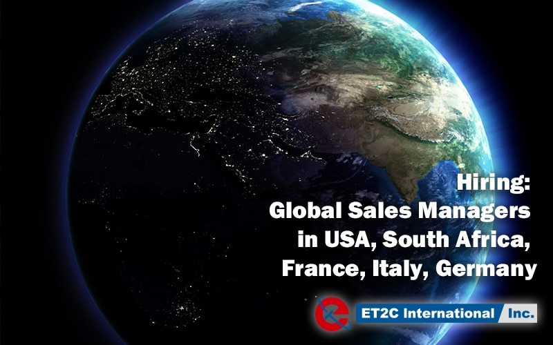 Hiring: Global Sales Managers in USA, South Africa, France, Italy, Germany
