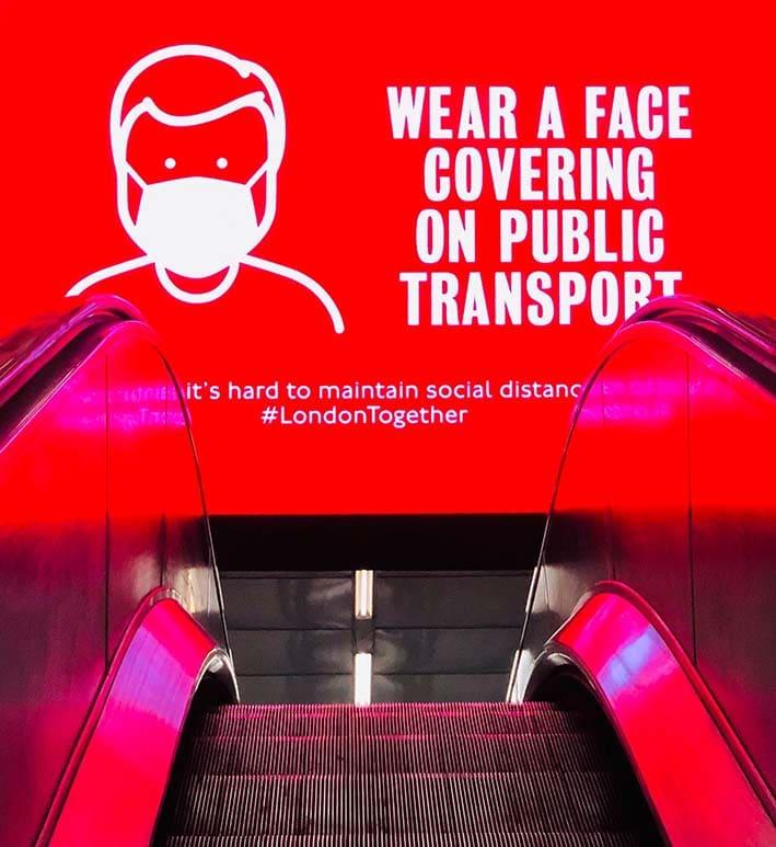 Masks London Subway ET2C covid19 coronavirus