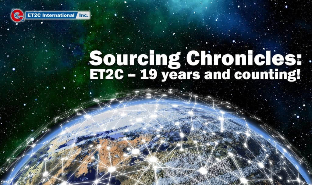 Sourcing chronicles: ET2C – 19 years and counting!