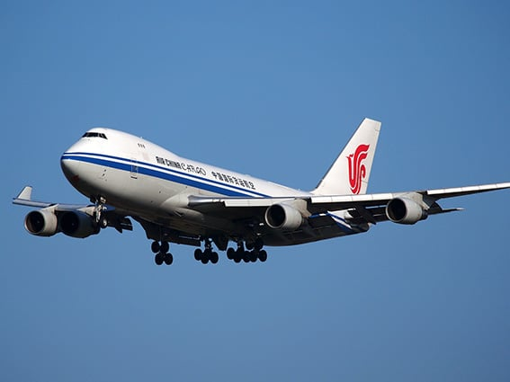 Avión carga de Air China